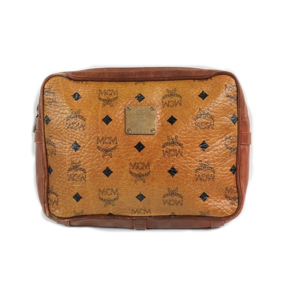 Vintage MCM Visetos Logos Monogram Small Clutch